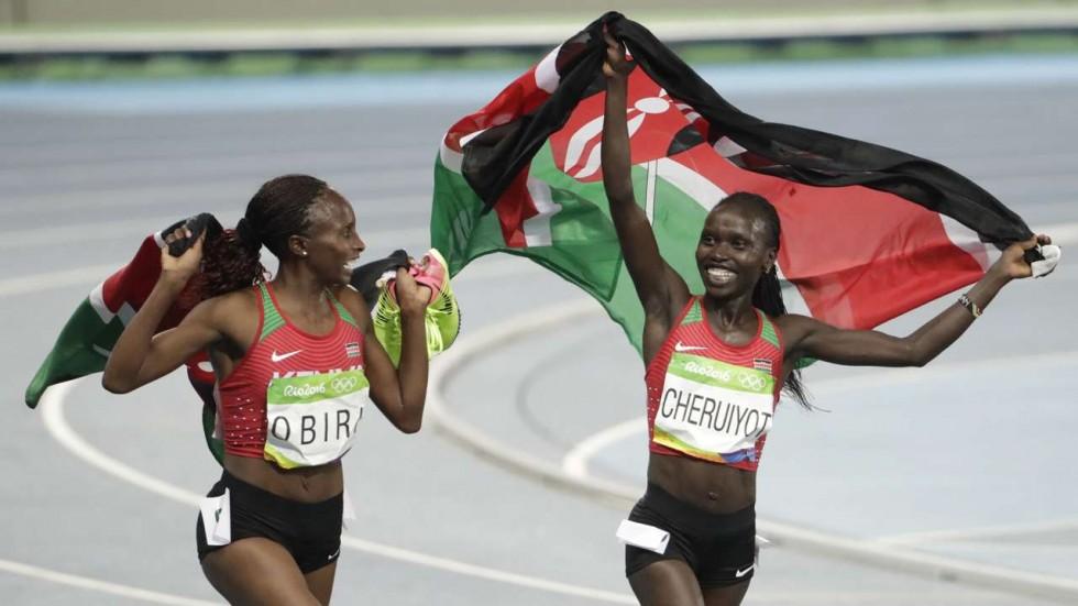 Vivian Cheruiyot and Hellen Obiri 2016 Olympics