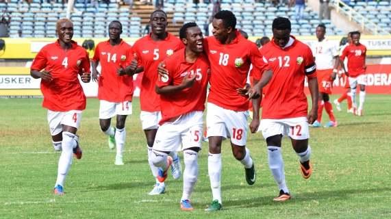 David Owino scores against Namibia